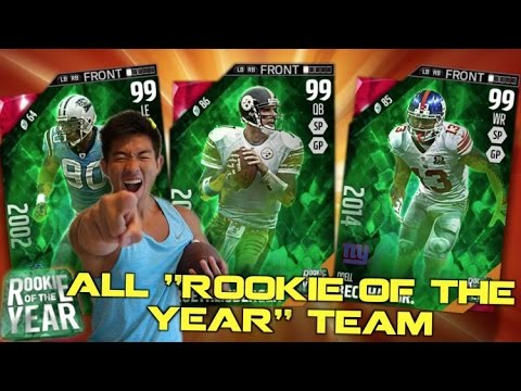 """THE """"ALL ROOKIE OF THE YEAR"""" TEAM!  ODELL BECKHAM JR. 6 TOUCHDOWNS!?  Madden Ultimate Team 16"""