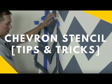Chevron Stencil Tips and Tricks