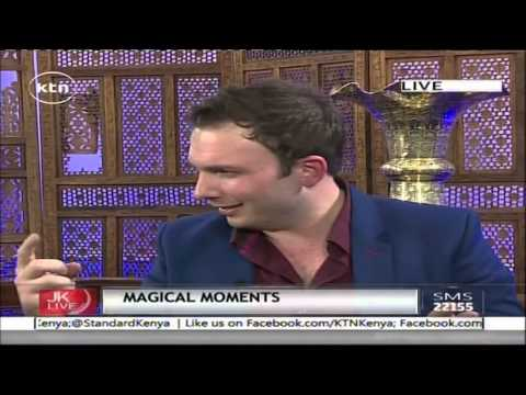 Jeff Koinange Live with  Larry Soffer - South African Mentalist/Magician part 1