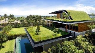 Diseños de jardín en techo de casas
