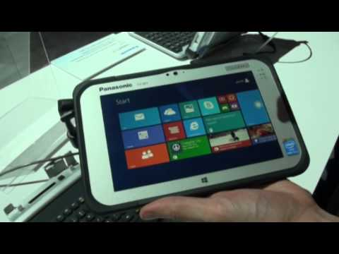 CES: Panasonic Toughpad FZ-M1 Windows 8 tablet video demo
