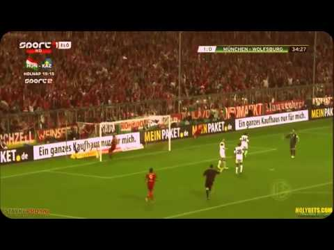 Arjen Robben Goal - Bayern Munich vs Wolfsburg - 6-1 - 16/04/2013