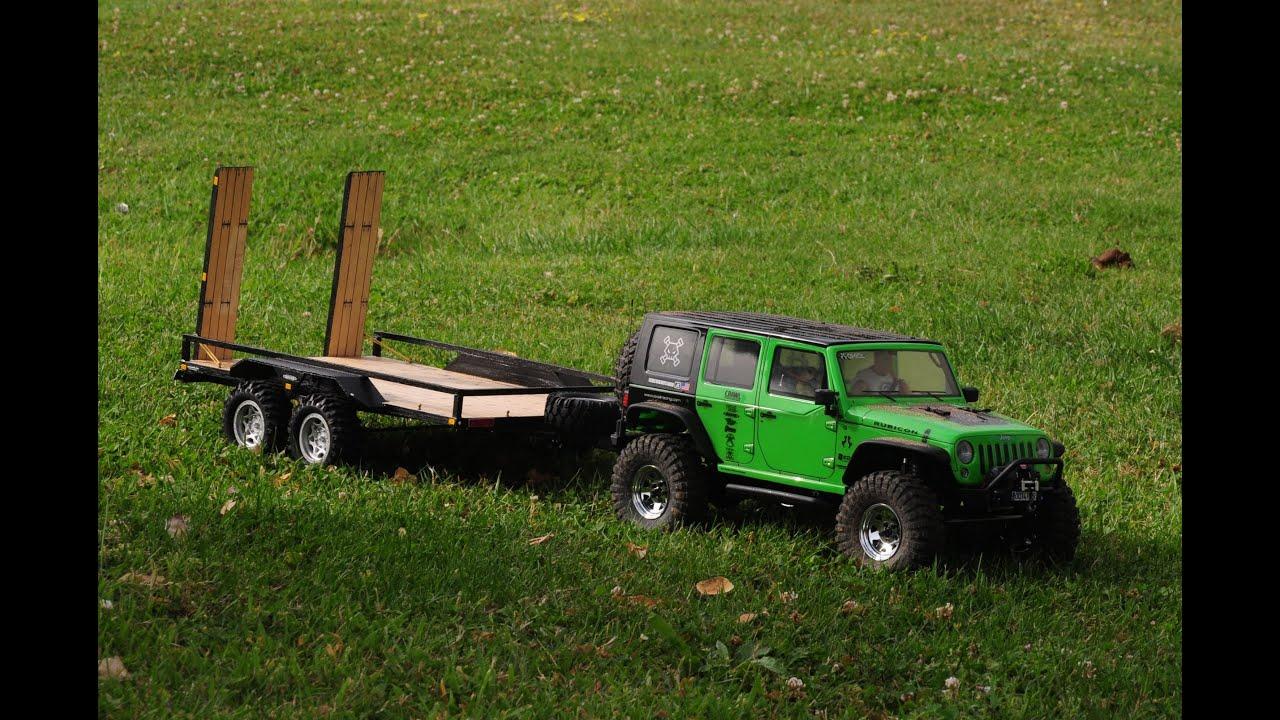 Remolque Plataforma Doble Eje Axial Scx10 Jeep Wrangler