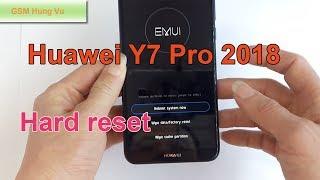 How To Hard Reset Huawei Y7 Pro 2018 Forgot Screen Password Code.