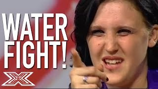 The Angriest Contestant Ever VS. Louis Walsh!   X Factor Global