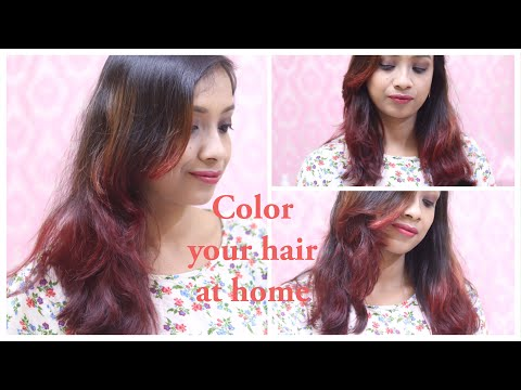 Ombre hair color at home || Color your hair at home
