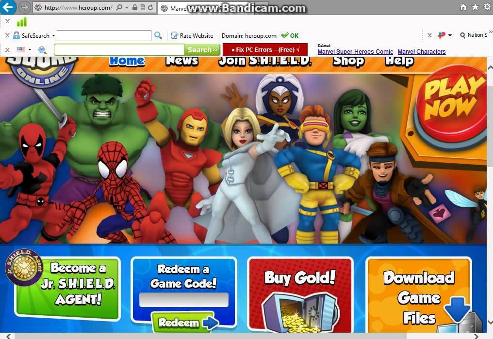 Super Hero Squad Online codes 2013 (June) - YouTube