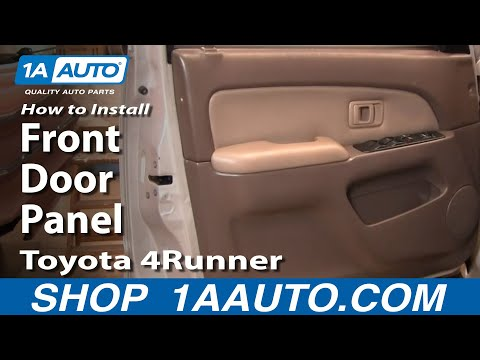 How To Install Remove Front Door Panel Toyota 4Runner 96-02 1AAuto.com