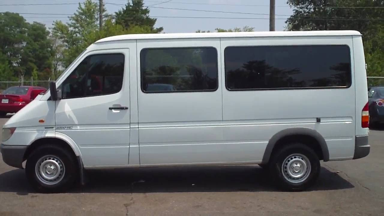 10 Passenger Vehicles >> 2003 Dodge Sprinter Mercedes Diesel Passenger Van Work Chur - YouTube