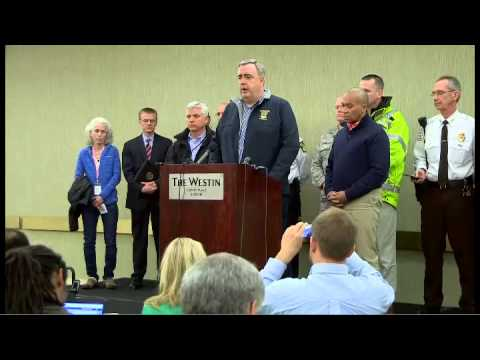 Press conference about Boston Marathon explosions