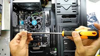 Intel Core i3 8100 GIGABYTE H310M-S2P Kingston 2400 DDR4 budget PC 2018