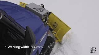 Heavy duty V-Plow 1800 for ATVs and UTVs.