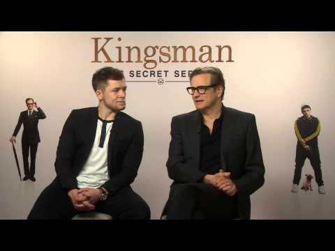 Kingsman: The Secret Service - Colin Firth and Taron Egerton interview