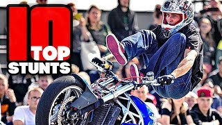TOP10 Motorcycle Tricks Stunters Battle