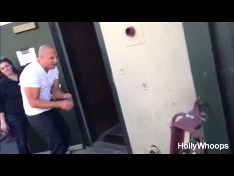 Vin Diesel Plays With Tyrese' Daughter On Fast & Furious Set