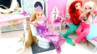 💜BARBIE Mermaid DOLL DRESSES💜RAPUNZEL💜ELSA FROZEN💜FASHION CLOTHES💜PRINCESS BEDROOM💜TOYS VIDEOS