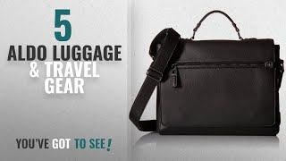 Top 10 Aldo Luggage & Travel Gear [2018]: Saltillo Messenger Bag, Black Leather, One Size
