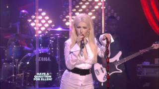 Christina Aguilera -- Something's Got A Hold On Me FULL HD live on Ellen