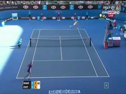 Maria Sharapova vs Petra Kvitova 2012 AO SF Highlights