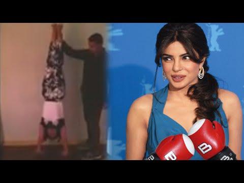 (VIDEO) Priyanka Chopra Does Handstand Push ups - Hrithik