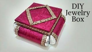 Original and creative Ideas cardboard organizer, How to Make Jewelry Box, Easy DIY jewelry box 2