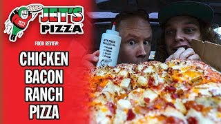 Jet's Pizza's Chicken Bacon Ranch Pizza Review | #Sponsored