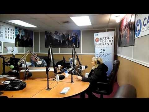 Agata na Radio Voz do Emigrante com Luis Santos