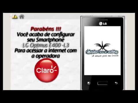 LG E400 L3 configurações claro internet