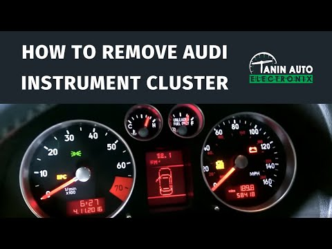 Tanin Auto Electronix 2000 - 2006 Audi TT Speedometer Removal. Gauge. and MFA MFD Display LCD Repair