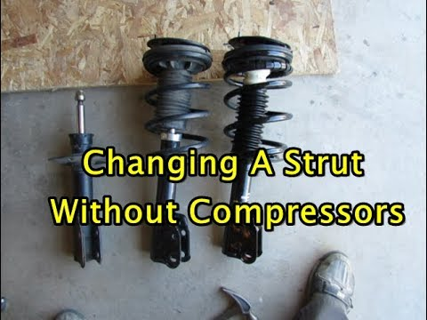Replacing a strut with and without spring compressors - Restore handling and ride quality