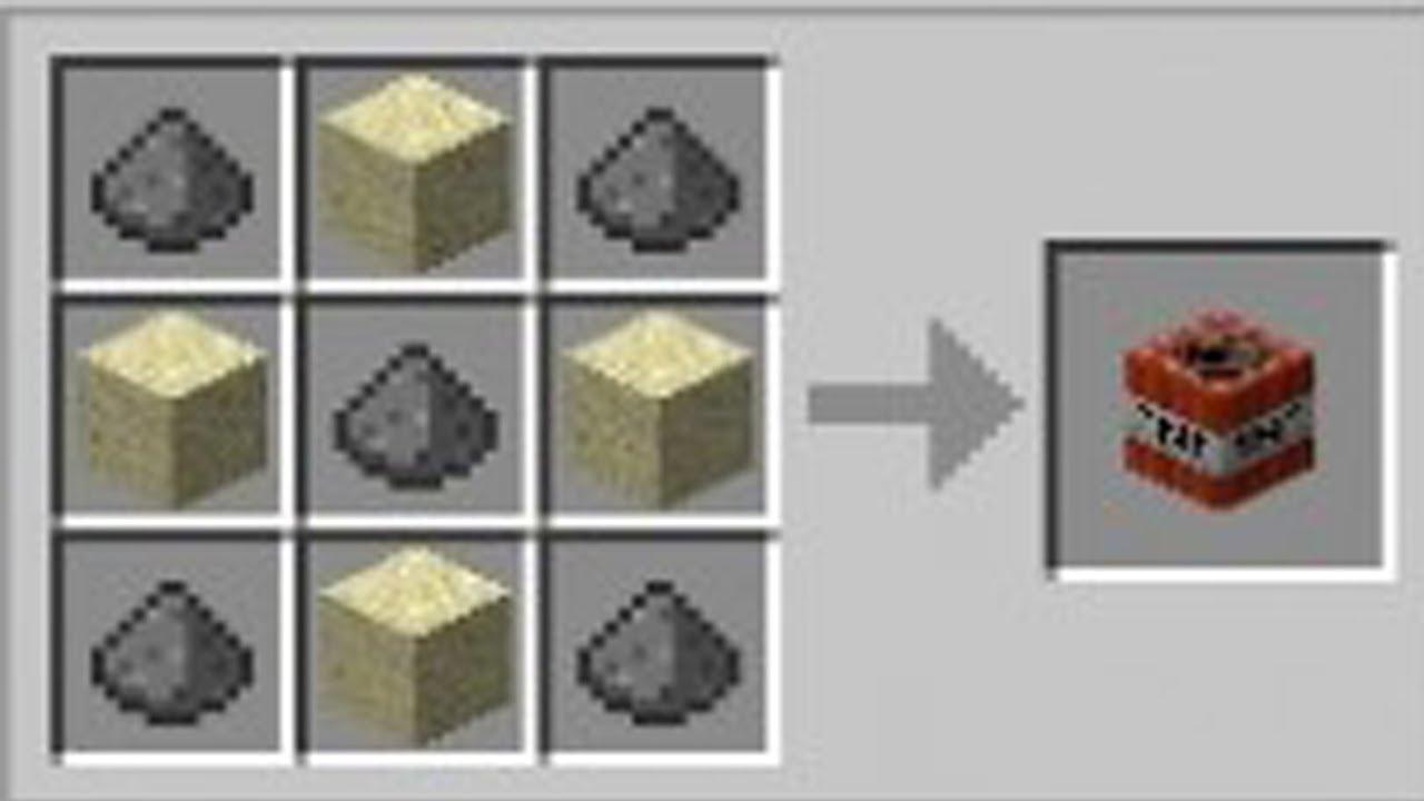 Como hacer tnt en minecraft pc youtube for Como hacer muebles en minecraft