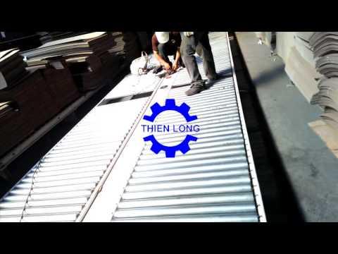 Băng tải con lăn chuyển giấy 2m