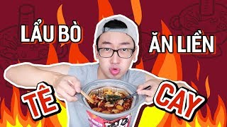 "FIRST TIME EATING ""TONGUE_BURNED"" ""INSTANT HOTPOT""// EATING THE WHOLE WORLD #06"
