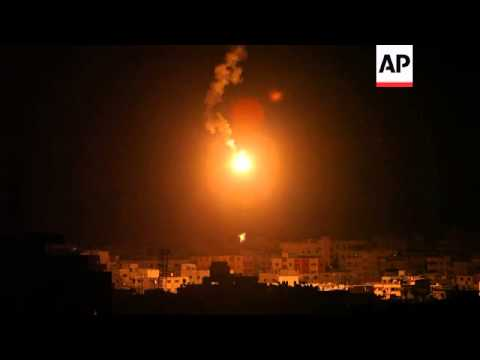 Ramallah vigil, flares over Gaza as Israeli bombardment continues