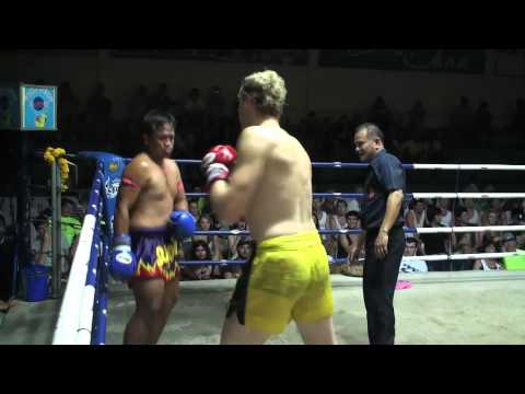 Mike Blacklock Pro Muay Thai debut at Patong Boxing Stadium.