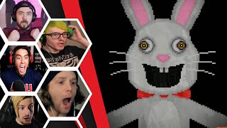 Let's Players Reaction To The Mr.Hopps Jumpscares & Scary Moments | Mr. Hopp's Playhouse