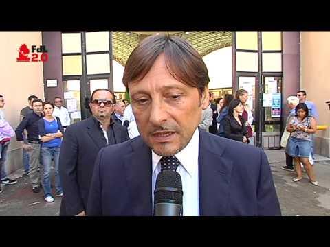 IL SENATORE DARIO STEFANO IN ATTESA DELL'ARRIVO DELLA PRESIDENTE BOLDRINI IN FIERA
