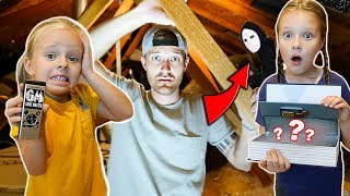 24 Hours in GAME MASTERS ABANDONED Attic Inside Our HOUSE! Play The Game or...)