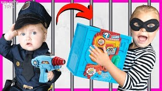 Kin Tin opens Ryan's World Super Surprise Safe! | Will Robber Kin Tin get Caught by the Police?!