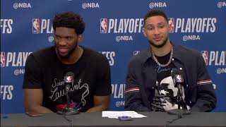 Joel Embiid & Ben Simmons Postgame Interview - Game 2 | Nets vs 76ers | 2019 NBA Playoffs