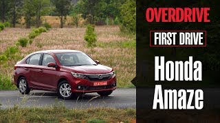 2018 Honda Amaze | First Drive Review | OVERDRIVE