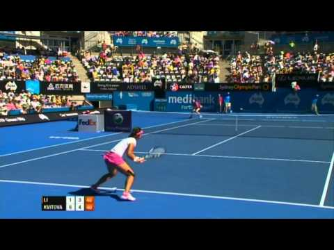 Na Li v Petra Kvitova Highlights Women's Singles Semi Final: Sydney International 2012