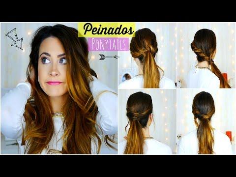 Peinados Fáciles y Rápidos para Diario/Escuela/Trabajo. Easy and quick Ponytails   Lizy P