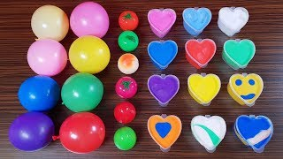 Making Slime with Balloons Clay and Lip Balm - Slime video