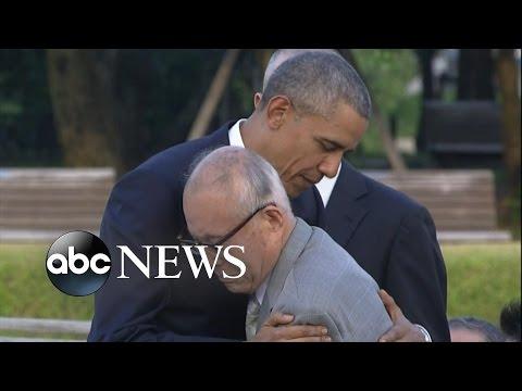 Obama Hugs Survivor of Hiroshima Bombing