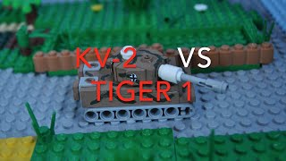 lego ww2 mini tanks battle KV-2 vs Wehrmacht ! (1941, start of barbarossa operation!