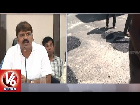 GHMC Gears Up To Repair Rain-Damaged Roads In Hyderabad | V6 News