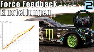 Project Cars 2 Lenkrad Force Feedback Einstellungen Tutorial + Tipps Logitech G29 Deutsch