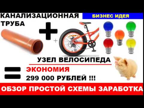 Как превратить ПЭТ трубу и узел от велосипеда в бизнес идею с доходом 299 000 рублей