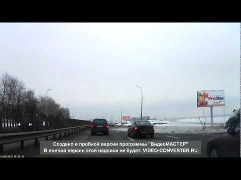 Молоковоз на МКАД (Минск) вылетел в кювет.